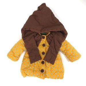 Bonjour Annika hooded button warm jacket
